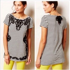 B2G1 Anthropologie Striped Filigree Tunic Dress